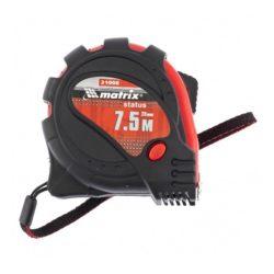 Рулетка Status magnet 3 fixations 7,5м х 25мм обрезиненный корпус, зацеп с магнитом, MATRIX