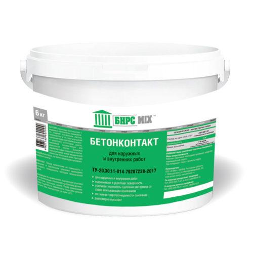 Грунт бетонконтакт, БИРСMIX 3 кг / 144 по выгодной цене