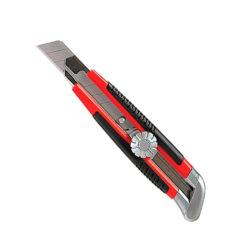 Нож 18 мм, выдвижное лезвие, металлическая направляющая, винтовой фиксатор лезвия MATRIX