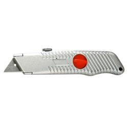 Нож 18 мм, выдвижное трапециевидное лезвие, металлический корпус MATRIX