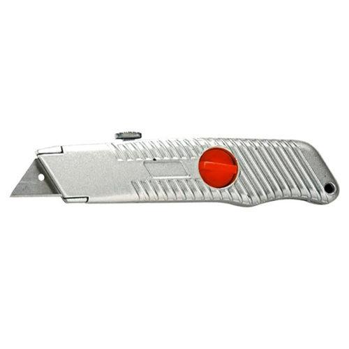 Нож 18 мм, выдвижное трапециевидное лезвие, металлический корпус MATRIX по выгодной цене