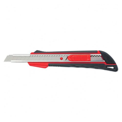 Нож 9мм, выдвижное лезвие, металлическая направляющая, эргономичная двухкомпонентная рукоятка MATRIX по выгодной цене