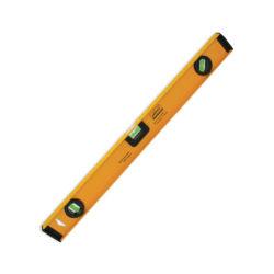 888 Уровень алюминиевый скелетный желтый,  3 глазка,  линейка,  магнитный 80см 3018808 стр.81(5)