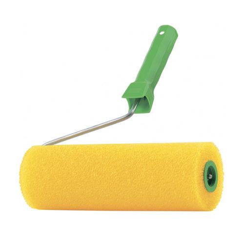 Валик структуный Сибртех 180 мм поролоновый с ручкой, гладкий по выгодной цене