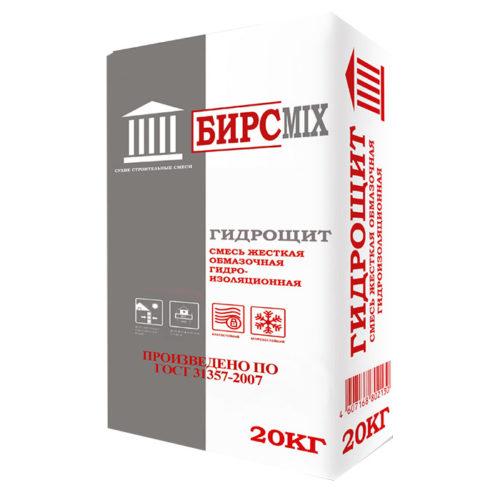 Смесь сухая гидроизоляционная ГИДРОЩИТ, БИРСMIX 20кг по выгодной цене