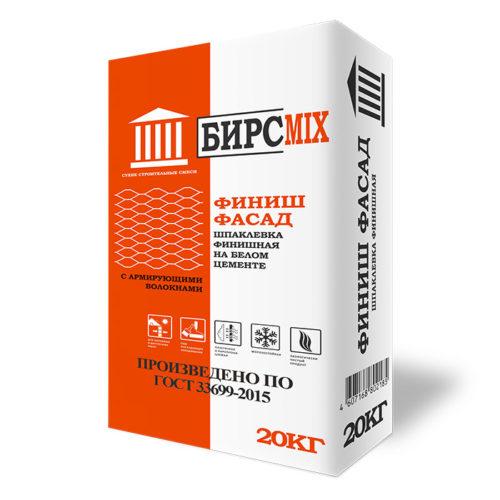 Шпатлевка финишная БИРСMIX на белом цементе, 20кг/48 по выгодной цене