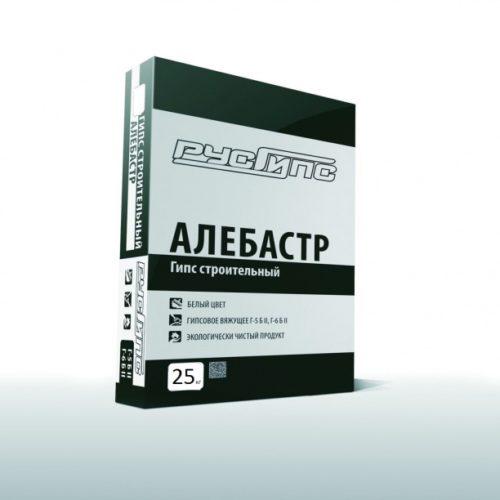 Алебастр ГИПС строительный Г-6 Русгипс  25кг./60 по выгодной цене