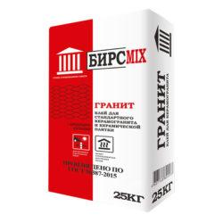 Клей плиточный ГРАНИТ, БИРСMIX, 25 кг/60