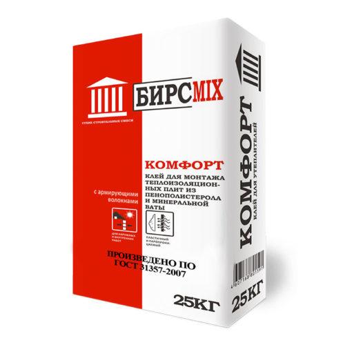 Клей монтажный КОМФОРТ, БИРСMIX, 25 кг/60 по выгодной цене