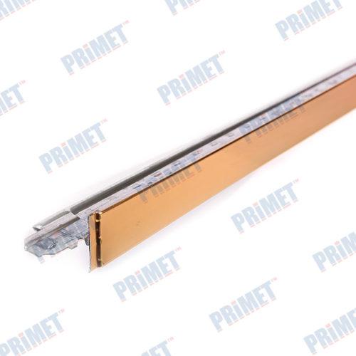 Профиль поперечный PR ПП 24*25*0,6 (Золото) по выгодной цене