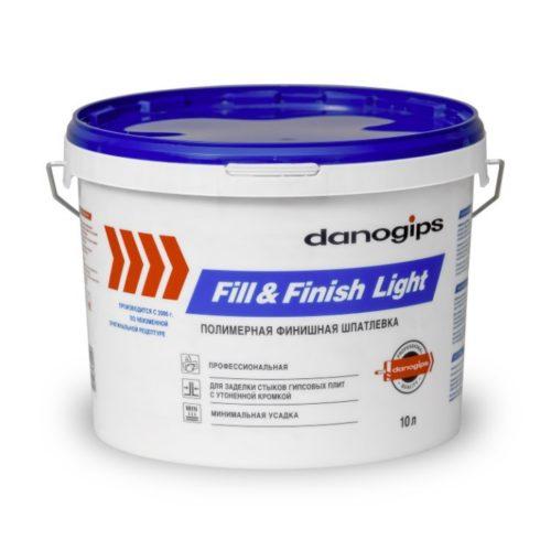 Шпатлевка полимерная Fill&Finish Light DANOGIPS 10л по выгодной цене