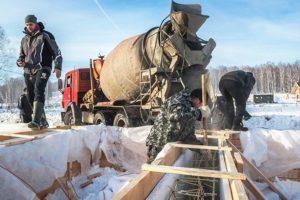 строительные работы при низких температурах
