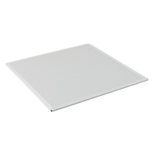 Кассета алюминиевая PRiMET 595х595 К90 (белый матовый) с перфорацией (U) по выгодной цене