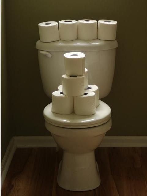 чем отделать  туалет кроме плитки дешево и красиво.