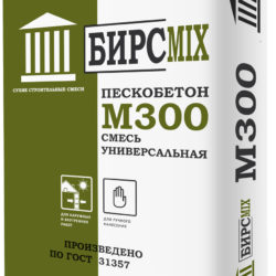 Смесь цементно-песчаная М-300 БИРСMIX, 25 кг/60