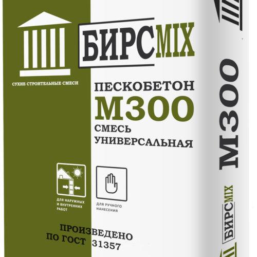 Смесь цементно-песчаная М-300 БИРСMIX, 25 кг/60 по выгодной цене