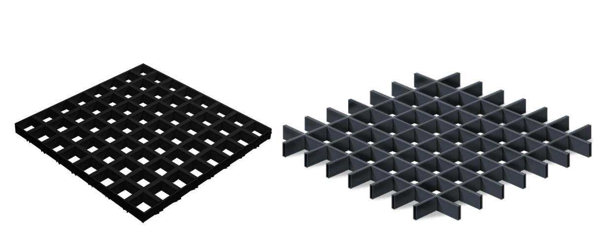 потолки грильято черного цвета